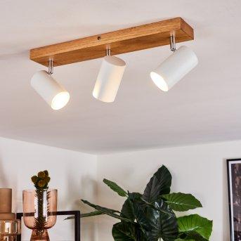 Zuoz Lámpara de Techo Madera clara, 3 luces