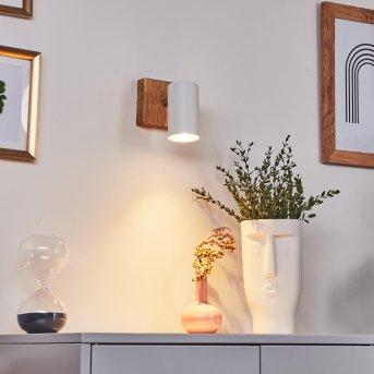 Zuoz Lámpara de Techo Madera clara, 1 luz