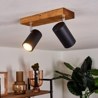 Zuoz Lámpara de Techo Madera clara, 2 luces
