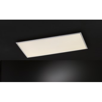 Wofi MILO Lámpara de Techo LED Plata, 1 luz, Mando a distancia, Cambia de color