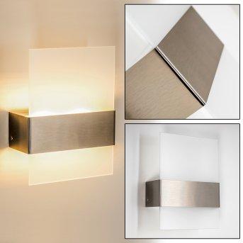 Vara Aplique para exterior LED Acero inoxidable, 2 luces