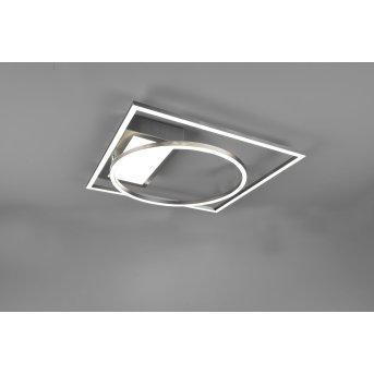 Trio Downey Lámpara de Techo LED Níquel-mate, 1 luz, Mando a distancia