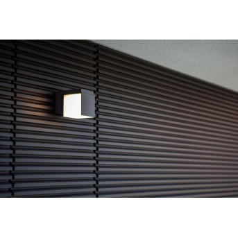 Lutec CUBA Aplique para exterior LED Negro, 1 luz