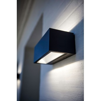 Lutec GEMINI Aplique para exterior LED Negro, 2 luces