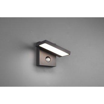 Trio Horton Aplique para exterior LED Antracita, 1 luz, Sensor de movimiento