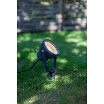 Lutec MINI LETO Estacas para jardín LED Antracita, 1 luz, Cambia de color
