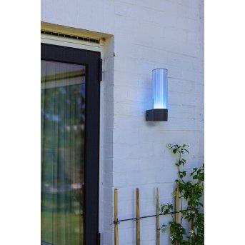 Lutec DROPA Aplique para exterior LED Antracita, 1 luz, Cambia de color