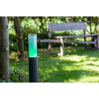 Lutec DROPA Poste de Jardín LED Antracita, 1 luz, Cambia de color