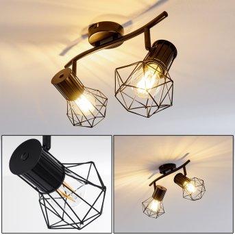 Bardhaman Lámpara de Techo Negro, 2 luces