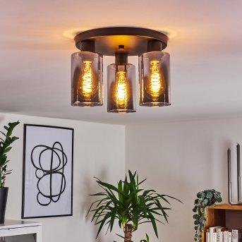 Hunouri Lámpara de Techo Negro, 3 luces