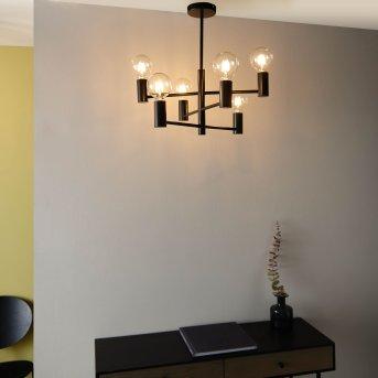 Brilliant Orazio Lámpara de araña Negro, 6 luces