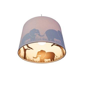 Waldi Elefant Lámpara Colgante Gris, 1 luz