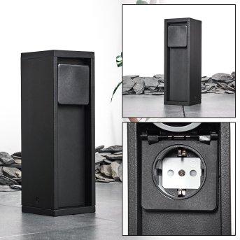 Papacal Columna caja de enchufes Negro
