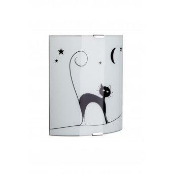 Brilliant Cat Aplique Blanca, 1 luz