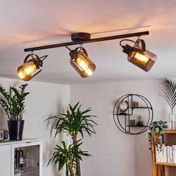 Quieri Lámpara de Techo Negro, 3 luces
