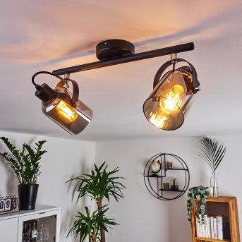Quieri Lámpara de Techo Negro, 2 luces