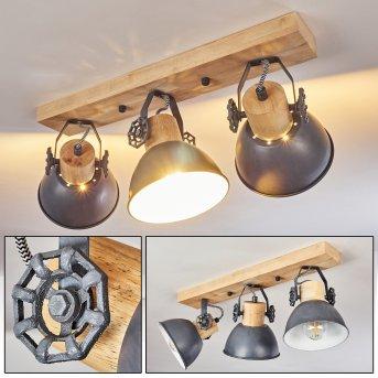 Orny Lámpara de Techo Madera clara, 3 luces