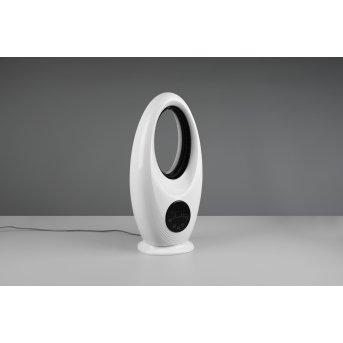 Reality Kalmar Ventilador de pie LED Negro, Blanca, 1 luz, Mando a distancia, Cambia de color