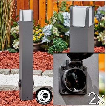 Lysabbel Poste de Jardín LED Antracita, 1 luz