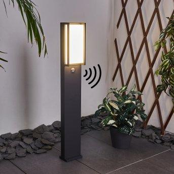 Skove Poste de Jardín LED Antracita, 1 luz, Sensor de movimiento