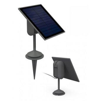 Lutec sun connec Solar SPARTA Panel solar LED Gris, Sensor de movimiento