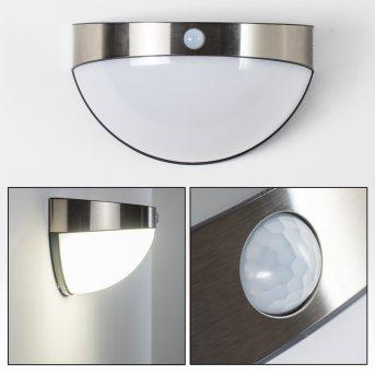 Pori Aplique para exterior LED Cromo, 1 luz, Sensor de movimiento
