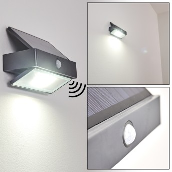 Wiborg Aplique para exterior LED Antracita, 1 luz, Sensor de movimiento
