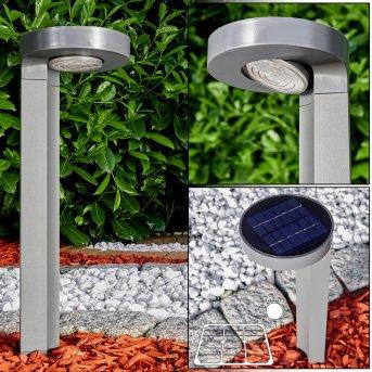 Lámpara solar Portmore LED Gris, 1 luz
