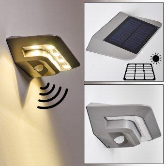 Lámpara solar Camden LED Gris, 1 luz, Sensor de movimiento