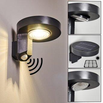 Aplique para exterior Townsville LED Negro, 1 luz, Sensor de movimiento