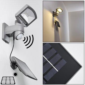 Aplique para exterior Larvik LED Gris, 1 luz, Sensor de movimiento