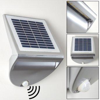 Lesum Aplique para exterior LED Plata, 1 luz, Sensor de movimiento