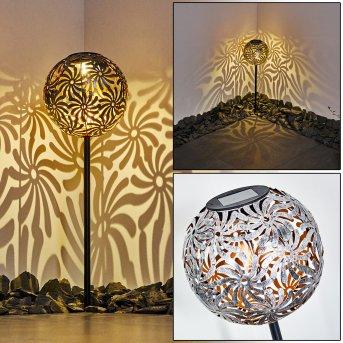 Gilbert Lámpara solar LED Plata, 1 luz
