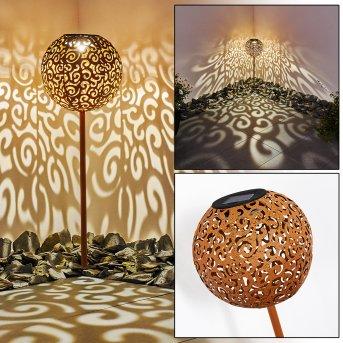 Paradiski Lámpara solar LED Color óxido, 1 luz
