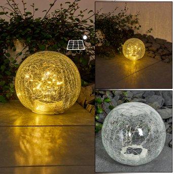 Jurmala Lámpara solar LED Transparente, claro, 1 luz