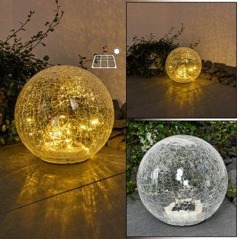 Jurmala Lámpara solar LED Transparente, 1 luz