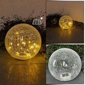 Jurmala Lámpara solar LED, 1 luz