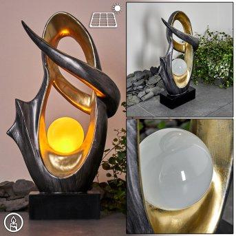 Benevento Lámpara solar LED Plata, dorado, 1 luz