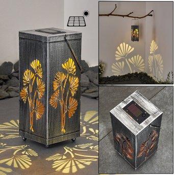 Parikia Lámpara solar LED Plata, Cobre, 1 luz