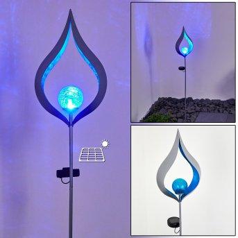 Rovinj Lámpara solar LED Plata, 1 luz