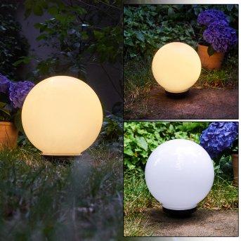 Campinas Lámpara esféricas LED Negro, Blanca, 1 luz