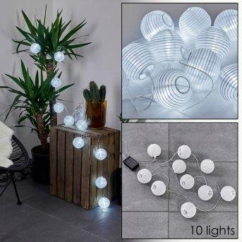 Redding Cadena de luz solar LED Blanca, 10 luces