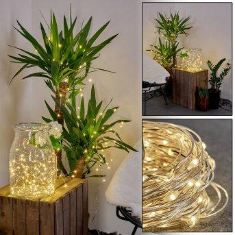 Pistoia Cadena de luz solar LED Blanca, 120 luces