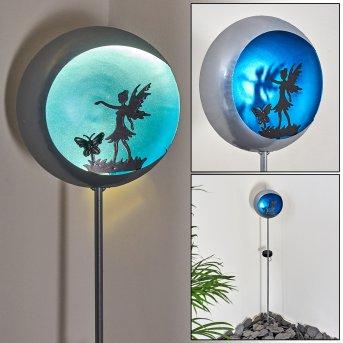 Loano Lámpara solar LED Azul, Plata, 1 luz