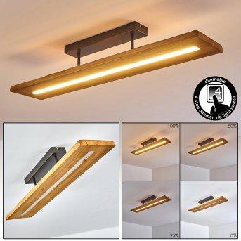 Adak Lámpara de Techo LED Gris, 1 luz