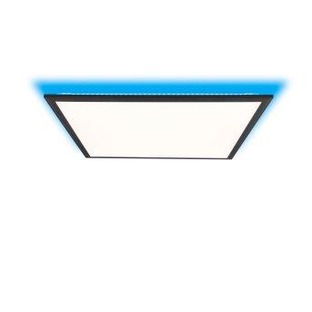 Brilliant Allie Lámpara de Techo LED Negro, 1 luz, Mando a distancia