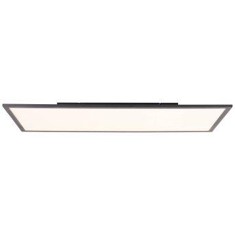 Brilliant Jacinda Lámpara de Techo LED Negro, 1 luz, Mando a distancia