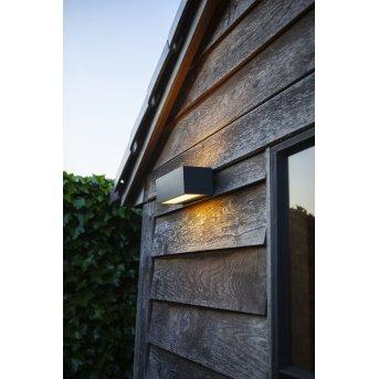 Lutec GEMINI Aplique para exterior LED Antracita, 2 luces, Cambia de color