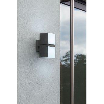 Lutec CUBA Aplique para exterior LED Antracita, 2 luces