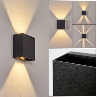 Spidern Aplique para exterior LED Negro, 1 luz